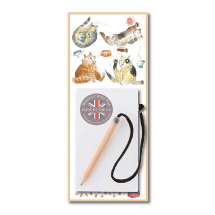 Happy Cats Magnetic Notepad